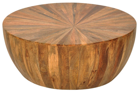 Contemporary Classical CCC-1542 Natural Cayley Round Coffee Table