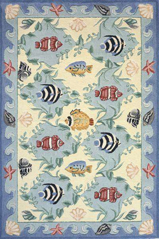 Coastal Cc 01 Blue Rug