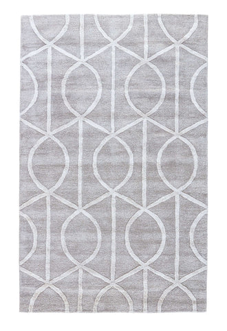 City CT14 Seattle Drizzle / Star White Rug