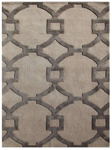 City Ct44 Regency Antique White Charcoal Slate Rug