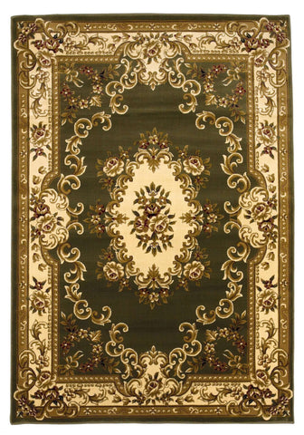 Corinthian 5312 Aubusson Green Ivory Rug