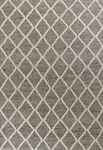 Cortico 6162 Diamonds Dark Grey Rug