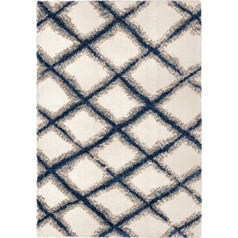 Cotton Tail 8308 Line Trellis White Rug