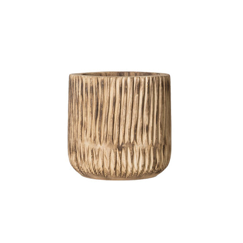 Woven Roots DF2165 Wood Pot
