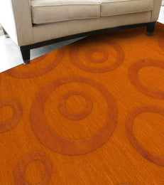 Dover DV5 Orange Custom Rug