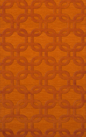 Dover DV7 Orange Custom Rug