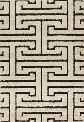 Enchant En 28 Ivory Dark Brown Rug
