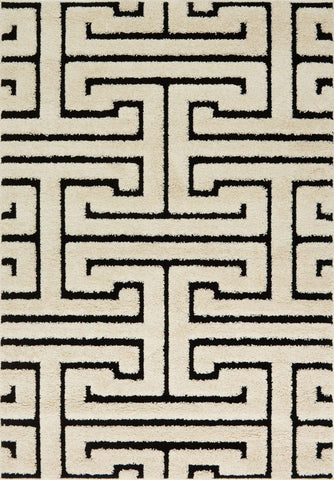 Enchant EN 28 White / Black Rug