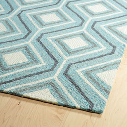 Escape  ESC04 17 Blue Rug