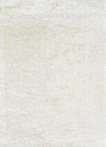 Enchanted Shag ENS-1 White Rug