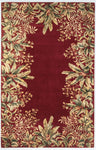 Emerald 9017 Tropical Border Ruby Rug