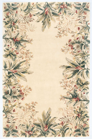 Emerald 9022 Tropical Border Ivory Rug