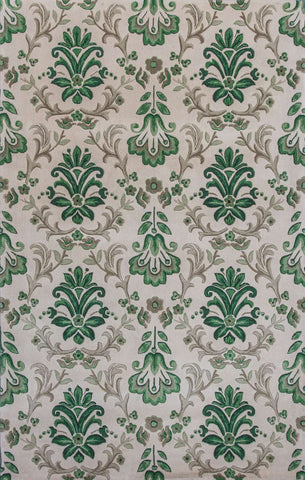 Emerald 9038 Damask Ivory Green Rug