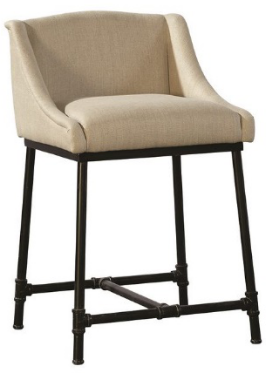 Iron Pipe 91-014FC Counter Stool