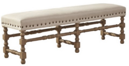 Madrid Linen 91-612F Bench