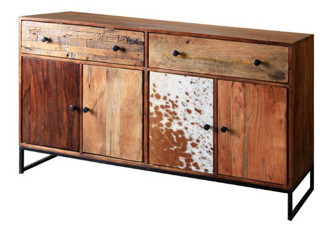 Acacia Wood and Iron Hand Crafted G04611 Sideboard