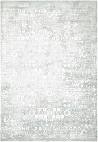 Desert Skies DSK02 KI26 by Kathy Ireland Silver/Green Rug