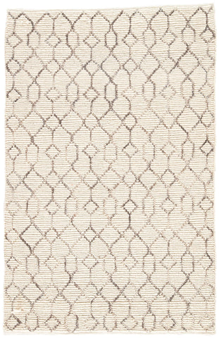 Luxor by Nikki Chu LNK06 Leda White Asparagus / Neutral Gray Rug