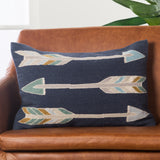 En Casa By Luli Sanchez LSC38 Artemas Indigo/Gray Pillow