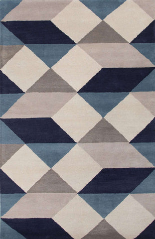 En Casa by Luli Sanchez Tufted LST17 Ojo White / Deep Navy Rug