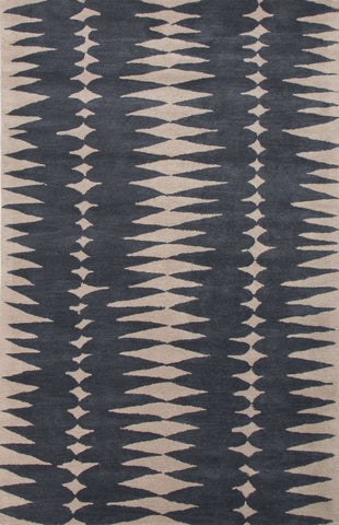 En Casa by Luli Sanchez Tufted LST27 Tear Drops Deep Blue / Dark Ivory Rug