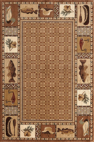 Lodge Renaissance 040 8954BW Okena Medium Brown Rug