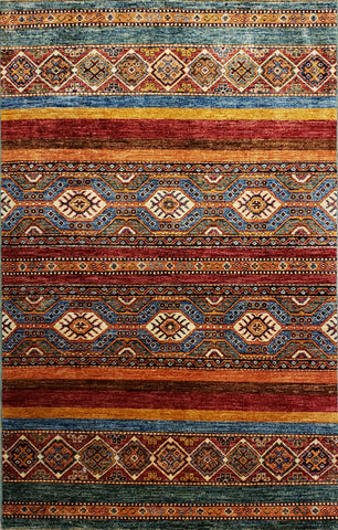 "Reserved Kazack OAK Multi 3'3""x4'11"" Rug"