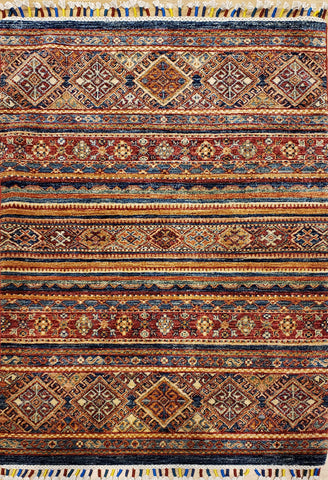 "Reserved Kazack OAK Multi 3'2""x4'11"" Rug"