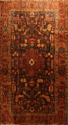 "Persian Hamadan OAK Multi 5'3""x9'5"" Rug"