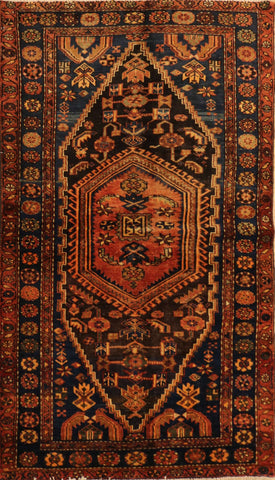 "Persian Hamadan OAK Multi 4'2""x6'9"" Rug"