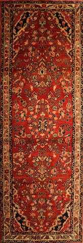"Persian Hamadan OAK Multi 3'3""x9'2"" Rug"
