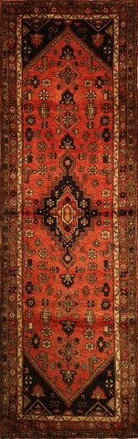 "Persian Hamadan OAK Multi 3'7""x10'5"" Rug"