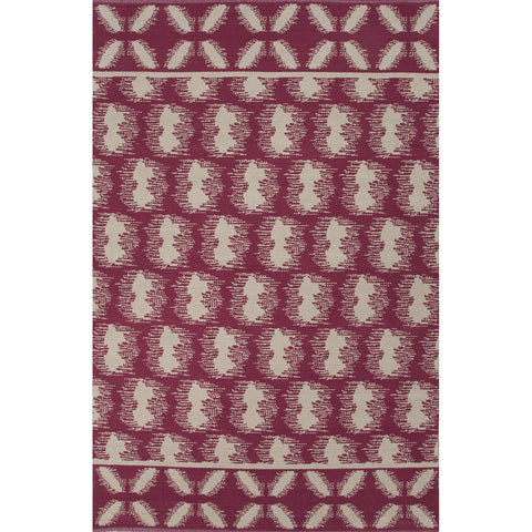 Traditions Made Modern Cotton Flat Weave MCF06 Clouds Cordovan / Cement Rug