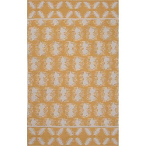 Traditions Made Modern Cotton Flat Weave MCF07 Clouds Beeswax / Silver Green Rug