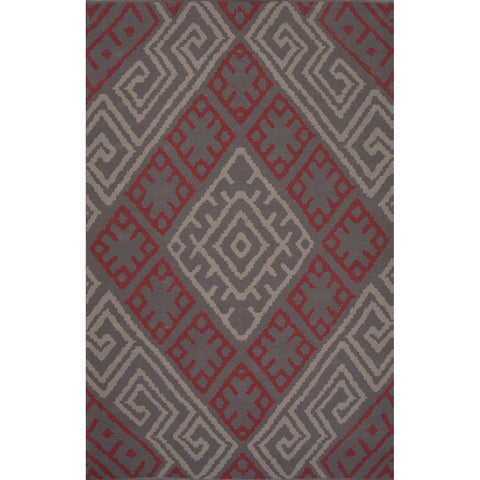 Traditions Made Modern Cotton Flat Weave Mcf08 Zagros Monument Cement Rug