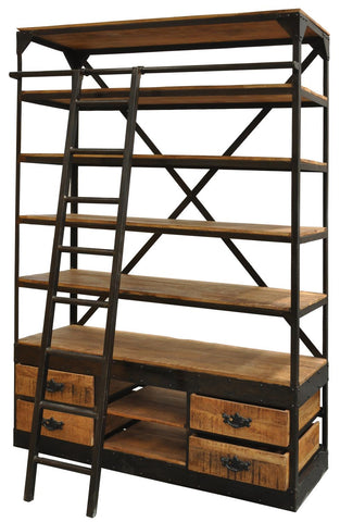 Neemrara NRC-5716 Natural Library Large Bookcase
