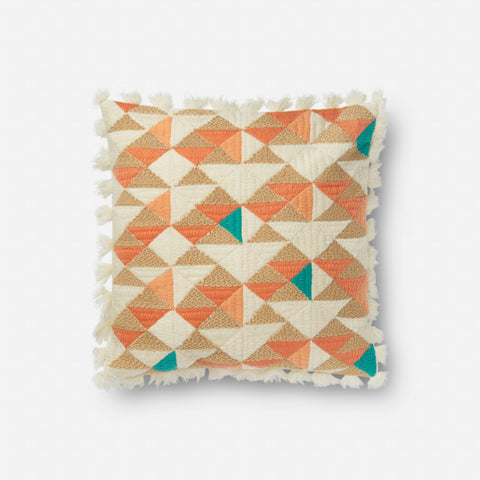 Loloi x Justina Blakeney P0631 Orange/Multi Pillow