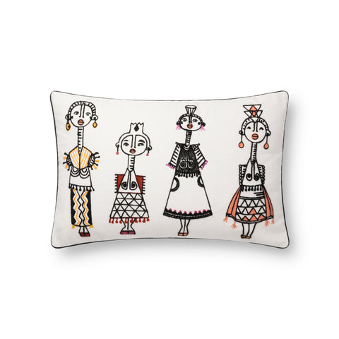 Justina Blakeney X P0784 White/Multi Pillow
