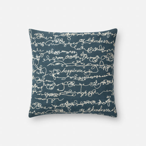Ellen Degeneres P4085 Blue/White Pillow