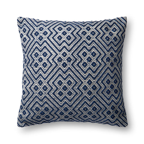 Loloi P0499 Navy/White Pillow