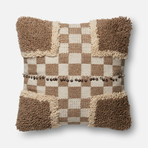 Ellen Degeneres P4030 Beige/Brown Pillow