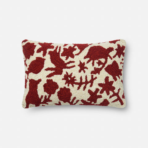 Ellen Degeneres P4075 Red/Ivory Pillow