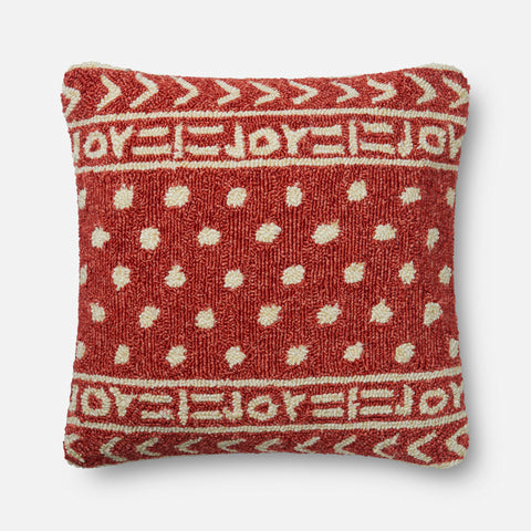 Ellen Degeneres P4076 Red/Ivory Pillow