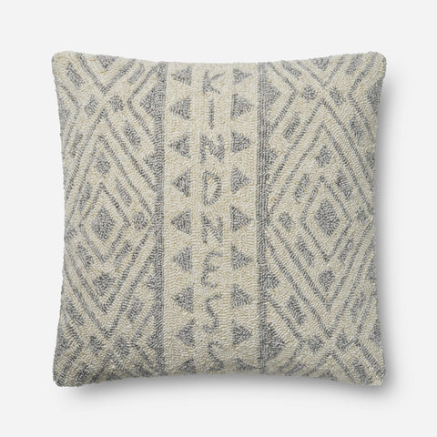 Ellen Degeneres P4077 Grey/Ivory Pillow