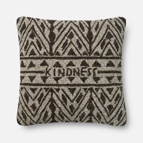Ellen Degeneres P4078 Brown/Beige Pillow