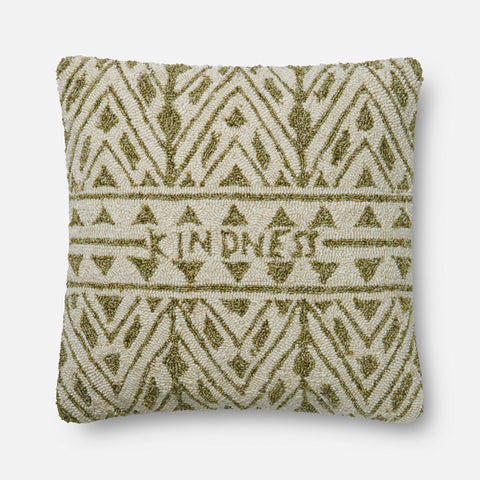 Ellen Degeneres P4078 Green/Ivory Pillow