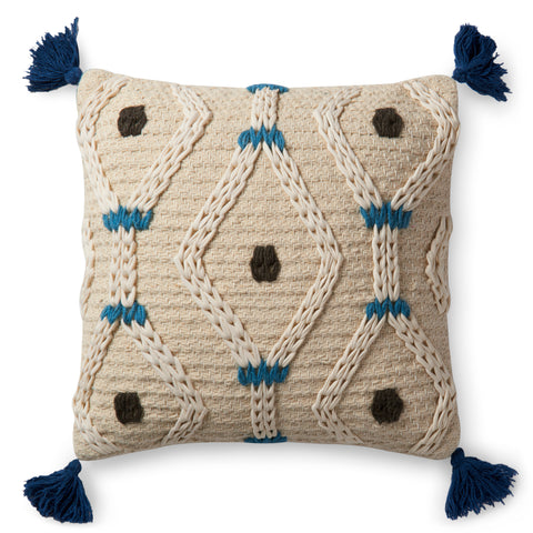 Loloi By Justina Blakeney X P0486 Ivory/Blue Pillow