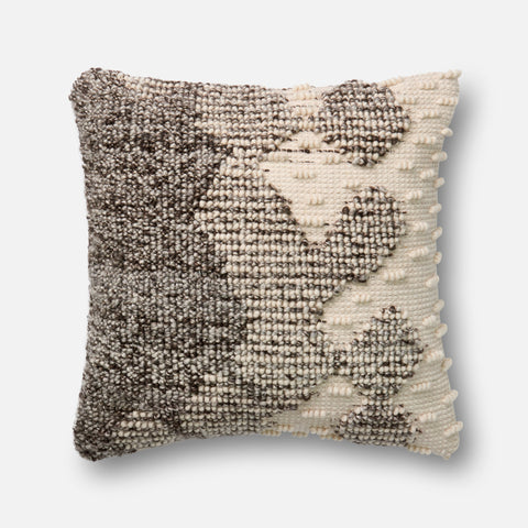 Ellen Degeneres P4002 Grey/Ivory Pillow