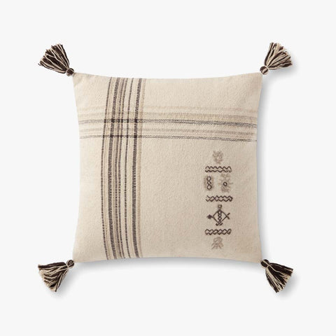 Loloi P0929 Natural/Charcoal Pillow