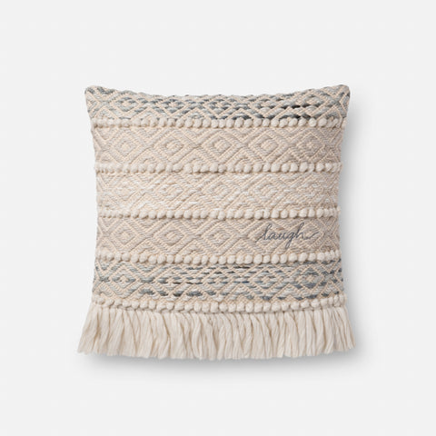 Ellen Degeneres P4084 Grey/Natural Pillow